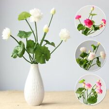 Artificial Silk Fake Lotus Flower Simulation Floral Bouquets Home Crafts Decor