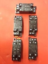 Omron Delay Timer Relays Sockets, 15A240V (LOT OF 5)