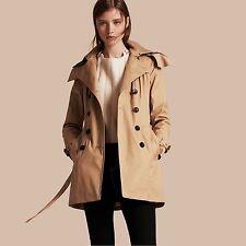 $995 BURBERRY BRIT REYMOORE Women Trench Coat w/ Detachable Hood & Liner - SZ 12
