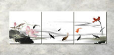 Print Painting Canva Abstract Art Wall Decor Watercolor Fish Lotus Pond NO frame