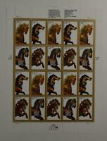 US SCOTT 2976 - 79 PANE OF 20 CAROUSEL HORSES STAMPS 32 CENTS FACE MNH