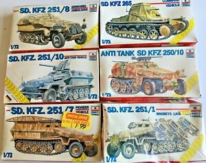 Esci 1/72 SD.KFZ ARMURED AMBULANCE ANTI TANK ROCKET LAUNCHER KIT - BOXED SEALED