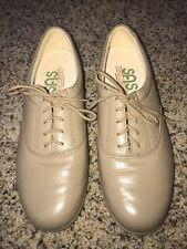 SAS women's tan beige leather oxford comfort walking shoes  #H2699440 size 8.5 M