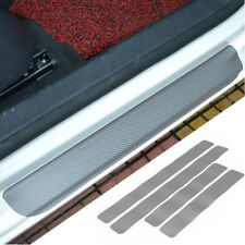 4Pcs Car Door Sill Scuff Carbon Fiber Stickers Welcome Pedal Protect Accessory l