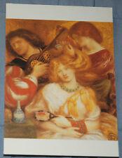 Vintage1990s Pre Raphaelite Postcard: D G Rossetti- 'Morning Music'
