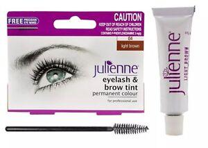 Julienne Eyelash&Eyebrow Tint Permanent Dye Beauty Tinting Student LIGHT BROWN😳
