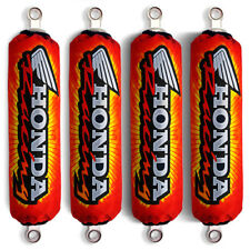 Red Racing Shock Covers Honda Fourtrax Foreman Rincon Rubicon (Set of 4) NEW