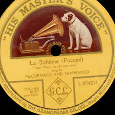 "McCORMACK & SAMMARCO ""La Boheme"" Ah! Mimi', tu piu non torni; single-sided G2129"