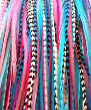 """*SALE*  30pcs. (Bubblegum) Long 8""""-13"""" Salon Grade Feather Extension, DIY Kit"""
