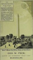 "Geo. W. Peck ""Peck's Sun"" Washington Monument Hayes & Betts Booksellers P93"