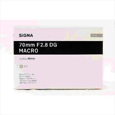 SIGMA 70mm f/2.8 DG Macro Art Lens for Sony E Mount Full Frame Japan-made NEW