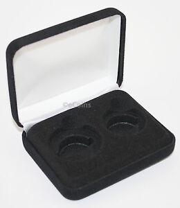 Lot of 5 Black Felt COIN GIFT METAL BOX for 1-Quarter plus 1-Half Dollar US JFK