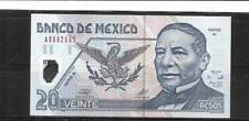 MEXICO MEXICAN #116a 2001 20 PESO UNC MINT POLYMER BANKNOTE PAPER MONEY NOTE