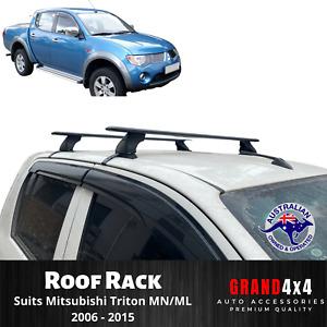 Alloy Black Cross Bar Roof Racks for Mitsubishi Triton MN/ML 2006-2015 Ute