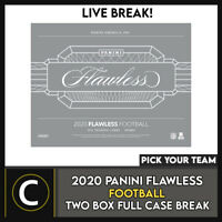 2020 PANINI FLAWLESS FOOTBALL 2 BOX CASE BREAK #F698 - PICK YOUR TEAM
