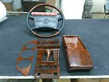 Mercedes benz C126 W126 wood Trim Set With Steering Wheels 560sec 500sel 126