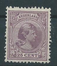 1891TG Nederland Prinses Wilhelmina  NR.42 postfris luxe zegel!