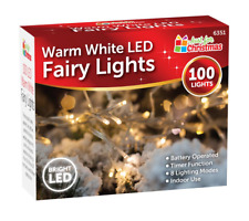 100 Warm White LED Lights Christmas Fairy Garden Xmas Tree Indoor