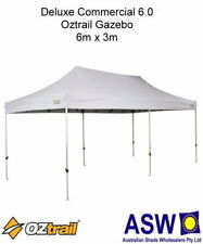 6m x 3m Oztrail Gazebo COMMERCIAL DELUXE 6.0 WHITE Instant Fold Marquee Pavilion