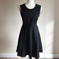 Kate Spade New York Women's Cocktail Dress Size 4 Black Knit Fit and Flare