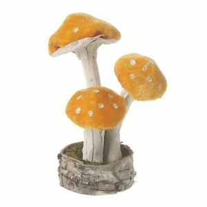 Heaven Sends Velvet Orange Standing Toadstool Small