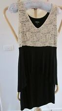 BEAUTIFUL DRESS ,BLACK AND BEIGE, SIZE 14 BY PREMAMAN