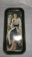 Coca Cola Vintage Metal Tray, Flapper Girl Depiction of 1921 Ad, Made in 1973