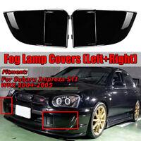 Lustroso Negro Frente Luz de Niebla Ajuste Cubierta Para Subaru Impreza STI WRX