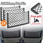 3x Large Elastic Storage Net Magazine Holder Rack Camper Van Car Seat Organiser