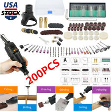 200PC 30000RPM Dremel Tool Accessories Variable Speed Rotary Cutting Kit Grinder