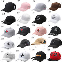 Men&Women Outdoors New Polo Cap Baseball Strap Sun Pony Adjustable Black Hat A