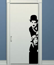 WALL STICKERS STICKER ADESIVI ADESIVO MURALE DECAL CHARLIE CHAPLIN CINEMA WS0478