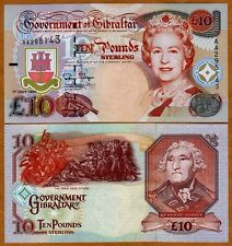 GIBRALTAR, 10 pounds, 1995, QEII, P-26, UNC > Battle