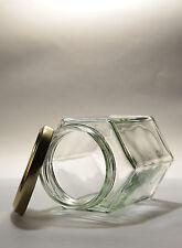 144  X  110ML (4oz) HEX GLASS JAM JAR -     HEXAGONAL JAMJARS -  WEDDINGS, HONEY