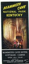 1956 Mammoth Cave National Park Hotel Cottages Brochure
