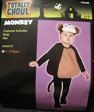 NEW Totally Ghoul Infant Toddler MONKEY Halloween Costume Dress up ages 1-2 yrs