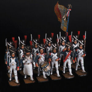 Tin Soldier, Grenadiers of the French Old Guard, on the march, 54 mm