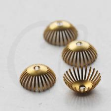 20 Pieces Raw Brass Bead Cap 5x6.5mm (3583C-J-301X)