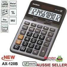 AUSSIE SELER CASIO DESK CALCULATOR 12 DIGIT AX120B AX120 AX-120B LARGE DISPLAY