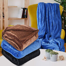 Sherpa Flannel Fleece Blanket Soft Plush Warm Thickened Bed Sofa Twin Size 60x80