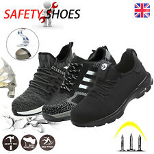 STEEL TOE CAP SAFETY TRAINERS MENS WOMENS BOOTS HIKING SHOES SIZE UK STOCK