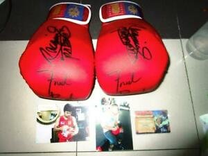 Manny Pacquiao  & Freddie Roach 1 pair MP8 red gloves  Authentic signature COA