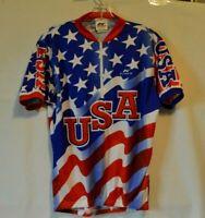 Kucharik Clothing Men's USA Flag Cycling Jersey Size Large
