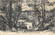 CPA 56 PONTIVY ENTREE DES CARRIERES DE L'ECHANTILLON