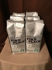 6-16 oz pkg Starbucks DECAF PIKE PLACE ROAST Whole Bean Coffee 6 lbs exp 3/19