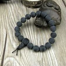 8mm Black Amber Beads Tibet Buddhism Bracelet