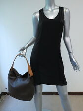 Tod's Two-Tone Leather Hobo Dark Brown/Camel