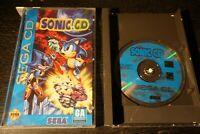 Sonic CD Sega CD Game Complete CIB Long Box