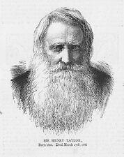 Henry Taylor Inglés Dramaturgo Y Poeta-huella de antigua 1886