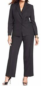 """Evan Picone Sz 6 Black Blue Pinstriped """"Park Avenue"""" Business 2 PC Pant Suit"""